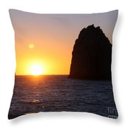 Sailboat In The Sunset Cabo San Lucas Mexico Throw Pillow