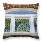 Sailboat In Window Throw Pillow