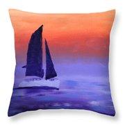 Sailboat Large 2015 Throw Pillow
