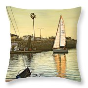 Sailboat On Arrival Throw Pillow