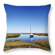 Sailboat On Cape Cod Bay Throw Pillow