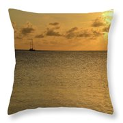 Sailboat On The Horizon 3 Throw Pillow