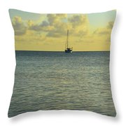 Sailboat On The Horizon Throw Pillow