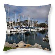 Sailboat Row Throw Pillow
