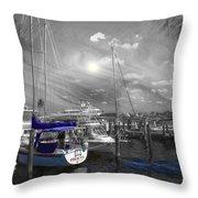 Sailboat Series 14 Throw Pillow