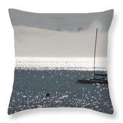 Sailboat Silhouette Throw Pillow