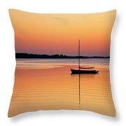 Sailboat Sunset Throw Pillow