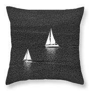 Sailboats 1 Throw Pillow
