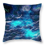 Sailboats In A Storm Throw Pillow