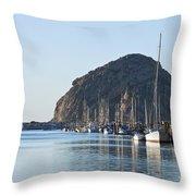 Sailboats In Morro Bay Throw Pillow