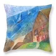 Sailboats Passing By Throw Pillow