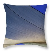 Sailcloth Abstract Times Two Throw Pillow