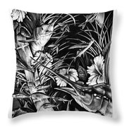 Sailfish Collage Throw Pillow