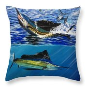 Sailfish In Costa Rica Throw Pillow