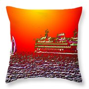 Sailin The Sound Throw Pillow