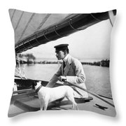Sailing, 20th Century Throw Pillow