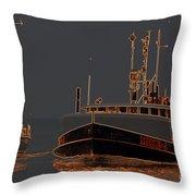 Sailing And Fishing 2 Throw Pillow