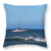 Sailing And Sunshine Throw Pillow