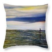 Sailing At Dusk Throw Pillow