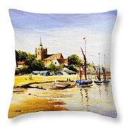 Sailing At Maldon Throw Pillow