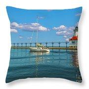 Sailing At St Josephs Throw Pillow
