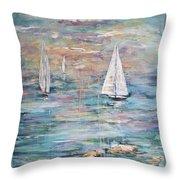 Sailing Away 1 Throw Pillow