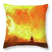 Sailing Away From The Sun Throw Pillow