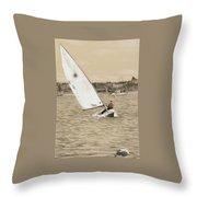 Sailing Away Throw Pillow