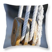Sailing Block Throw Pillow