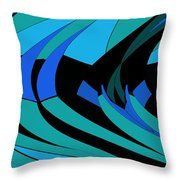 Sailing Blue - Left Throw Pillow