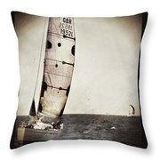 Sailing Boat Nautical 5 Throw Pillow