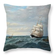 Sailing By The Coas Throw Pillow