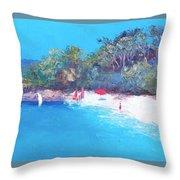 Sailing Day Throw Pillow