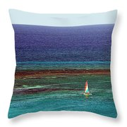 Sailing Day Throw Pillow by Karen Zuk Rosenblatt