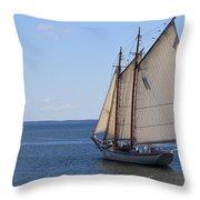 Sailing Downeast Throw Pillow