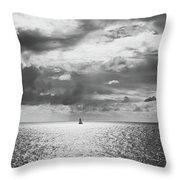 Sailing Dreams Black And White Throw Pillow
