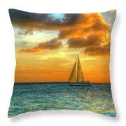 Sailing Free Throw Pillow