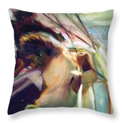 Sailing Hard To Wind Throw Pillow