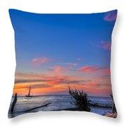 Sailing Hazard Throw Pillow