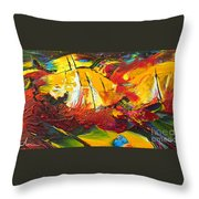 Sailing Impression 01 Throw Pillow
