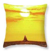 Sailing In Hawaiian Sunshine Throw Pillow