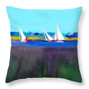 Norfolk Sails Throw Pillow