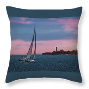 Sailing In Portland Maine Throw Pillow