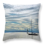 Sailing In Seattle Throw Pillow