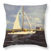 Sailing In The Netherlands Throw Pillow by Jack Skinner