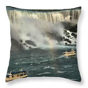 Sailing Into The Mist Throw Pillow