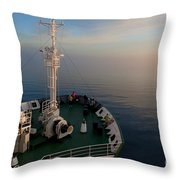 Sailing Into The Unknown... Throw Pillow