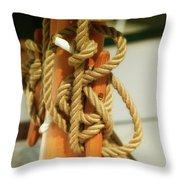 Sailing Knot Throw Pillow