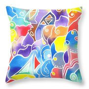 Sailing Maze Throw Pillow