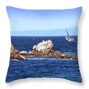 Sailing Monterey Bay Throw Pillow